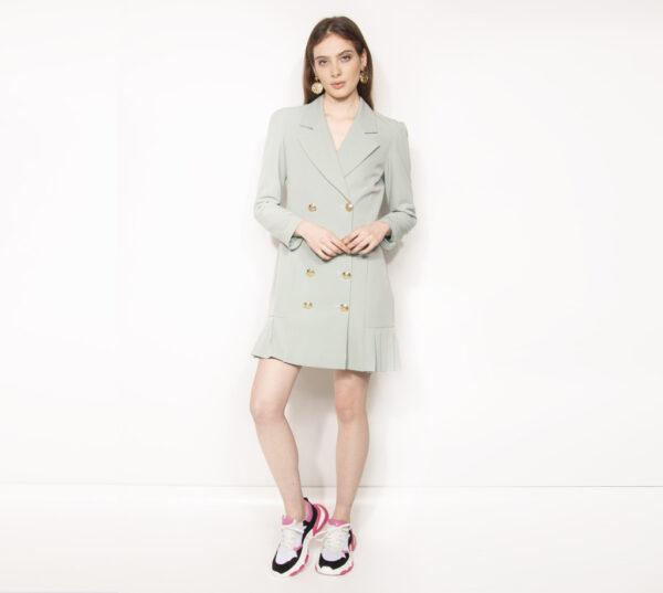 abito giacca fondo plissè kontatto