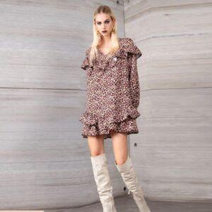 abito corto animalier futur 3 fashion roma nord