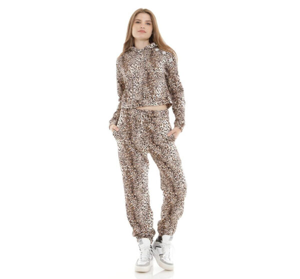pantalone tuta leopardato souvenir